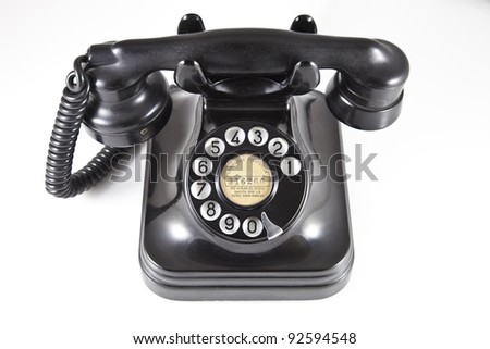 old black phone made ??of Bakelite