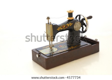 Old black sewing machine