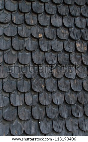 old black wooden tiles - stock photo