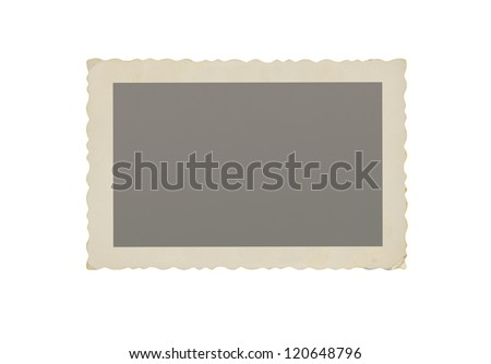Old blank photograph isolated on white background with copy space - stock photo