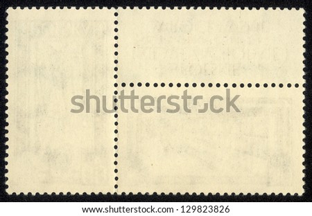 old blank postage stamp - stock photo