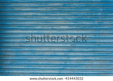 Old blue metal sheet texture wallpaper and background - stock photo