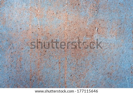 Old Blue Paint Background. - stock photo