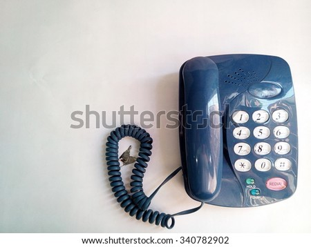 Old blue telephone touchtone