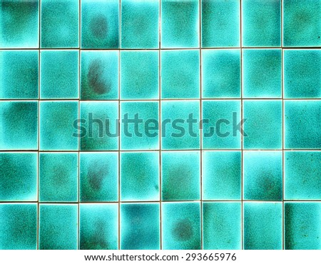 Old blue tiles background - stock photo