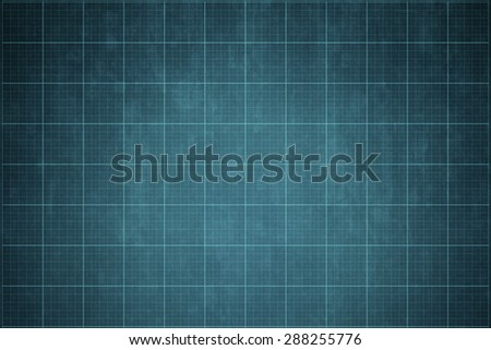 old blueprint background texture. Technical backdrop paper. - stock photo
