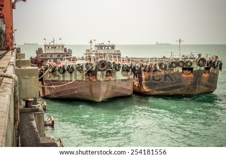old boats - stock photo