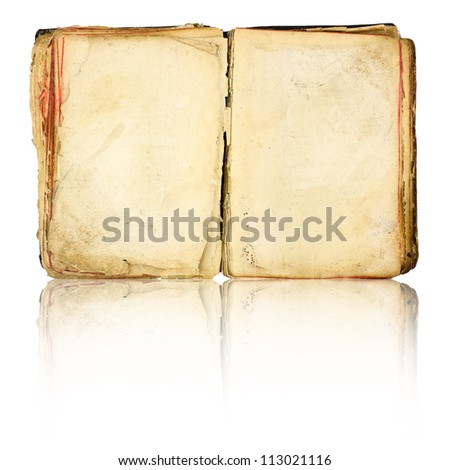 Old book blank isolated on white background - stock photo