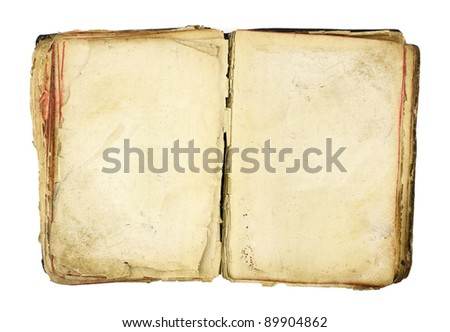 Old book blank on white - stock photo