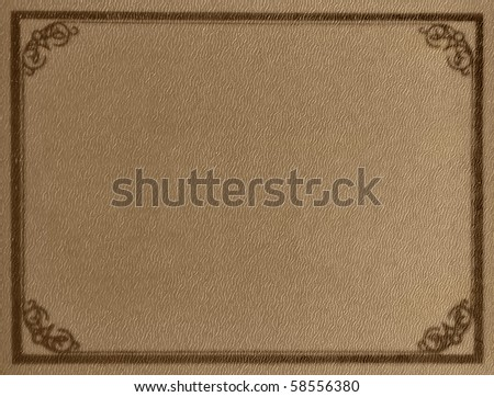 Old book cover design - stock photo