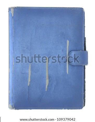 old book cover isolated on a white background - stock photo