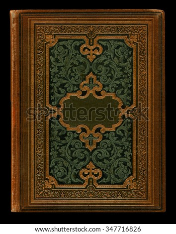 Old Book Cover of the late 19th century,  background