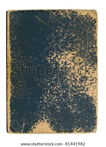 Old book cover on a white background - stock photo