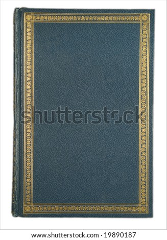 Old book gold border blank center - stock photo