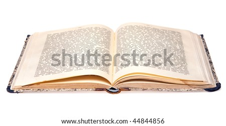 old book isolated on a white background - stock photo