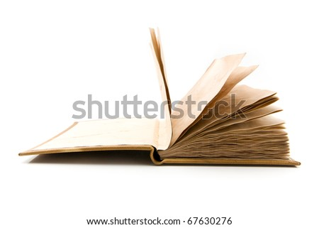 old book on a white background - stock photo