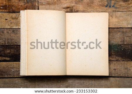 old book open  - stock photo