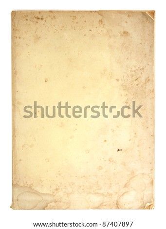 old book pages isolated on white - stock photo