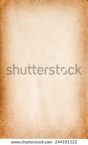 Old book paper texture of a blank page - stock photo