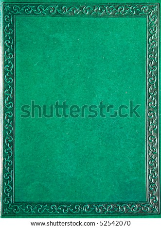 Old book's cover - stock photo