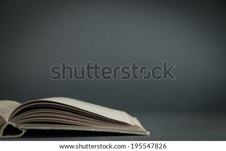 Old Book.Selective focus. Space for text. - stock photo
