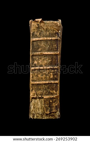old book spine - stock photo