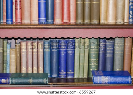 old bookcase - stock photo