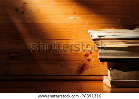 Old books against - stock photo