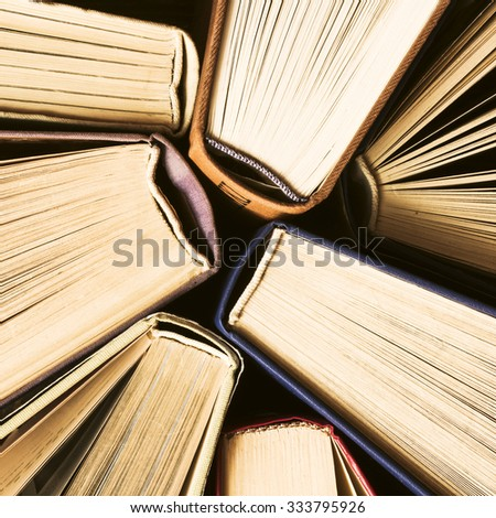 Old Books Background/ Old Books Background - stock photo