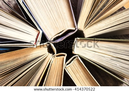 Old Books Background./ Old Books Background - stock photo