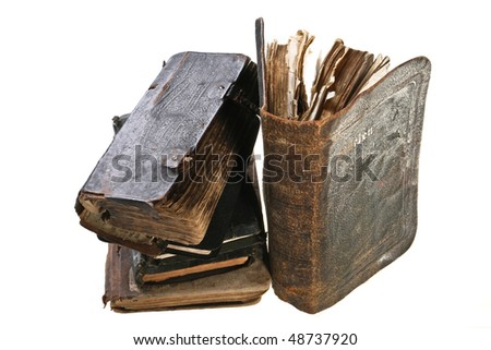 old books. Bible - stock photo