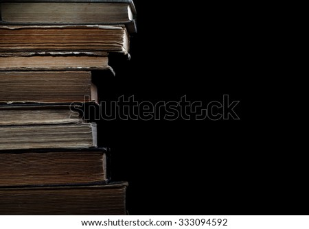 Old books in the library, concept of archive - stock photo