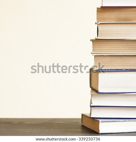 Old Books On The Shelf./ Old Books On The Shelf. - stock photo
