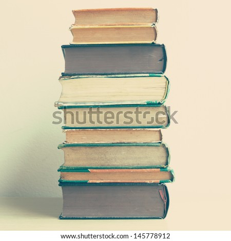 Old Books Page Textures - stock photo