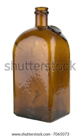 Old bottle for a drugstore or perfumery - stock photo