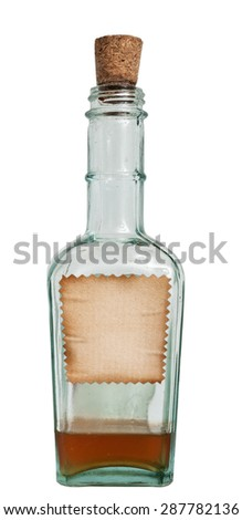 Old bottle isolated