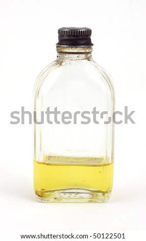 Old bottle with high grade oil