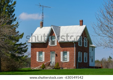 Old Brick Farmhouse Stock Photo Royalty Free 630549542