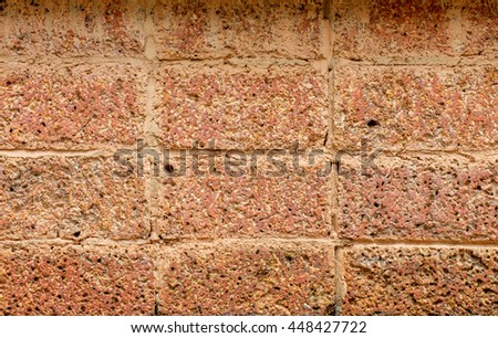 Old brick wall background. - stock photo