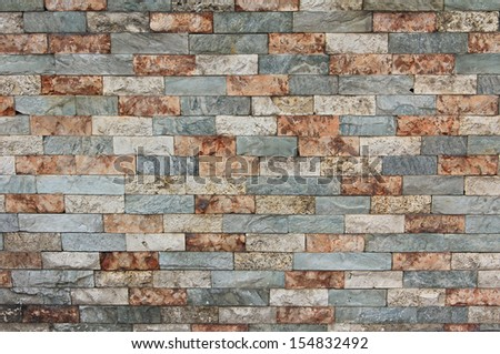 old brick wall background, tricolor - stock photo