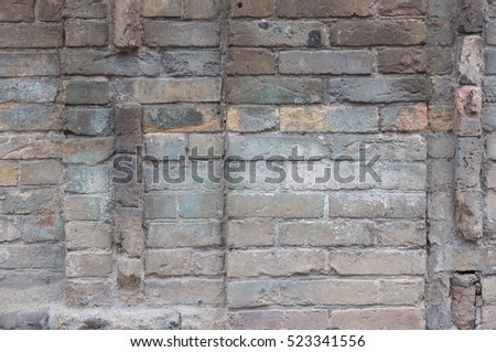 Old brick wall. Design element texture for web banner.