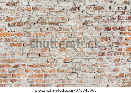 Old brick wall. Grunge texture background - stock photo