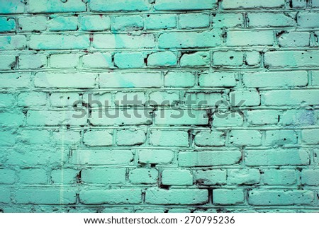 Old brick wall, simple background for your design projects. - stock photo