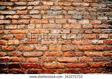 Old brick wall texture background, background pattern - stock photo