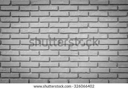 Old brick wall texture background , black and white - stock photo