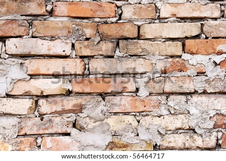 Old brick wall texture: can be used as background - stock photo