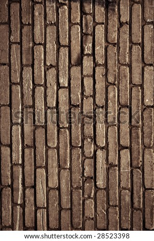 Old brick wall texture. Dirty grunge background