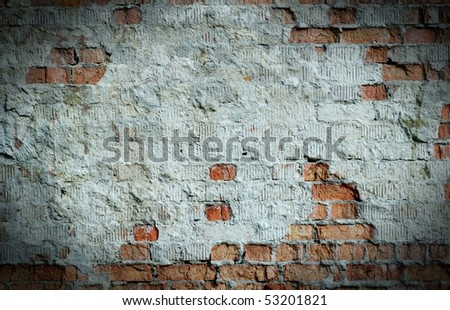 Old brick wall with space for text