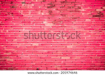 Old brick wall with window texture background - stock photo