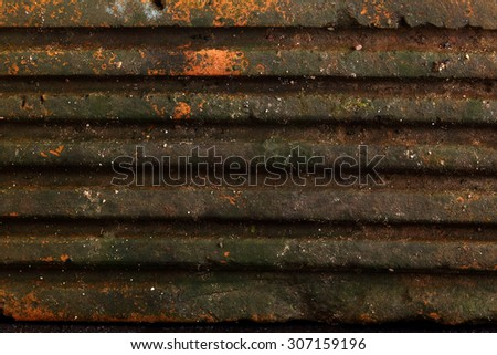 Old brick with moss texture. - stock photo